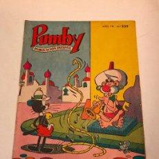 Tebeos: PUMBY Nº 229. VALENCIANA 1962. Lote 101570759