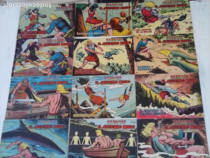 Tebeos: EL JUSTICIERO NEGRO ORIGINAL COMPLETA Y SUELTA - VALENCIANA 1965 - VER PORTADAS - Foto 6 - 102021223