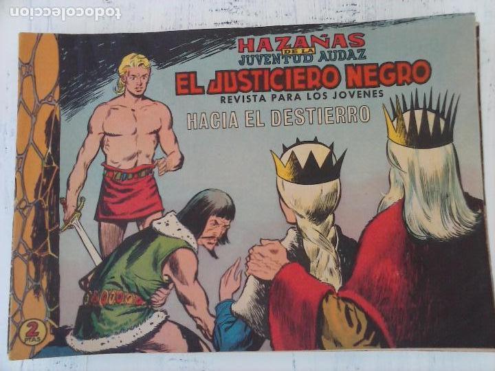 Tebeos: EL JUSTICIERO NEGRO ORIGINAL COMPLETA Y SUELTA - VALENCIANA 1965 - VER PORTADAS - Foto 19 - 102021223