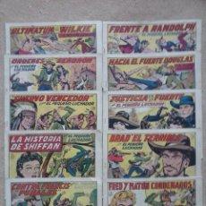 Tebeos: EL PEQUEÑO LUCHADOR ORIGINAL 1945 - LOTE DE 10 NºS - GRANDES 21 X 30 MUY BUEN ESTADO. Lote 102378939