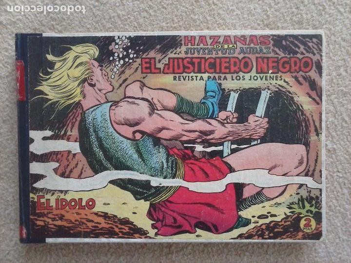 Tebeos: EL JUSTICIERO NEGRO ORIGINAL COMPLETA 1 AL 24 EDI. VALENCIANA 1965 - GUERRERO DIBUJOS, VER PORTADAS - Foto 2 - 102608587