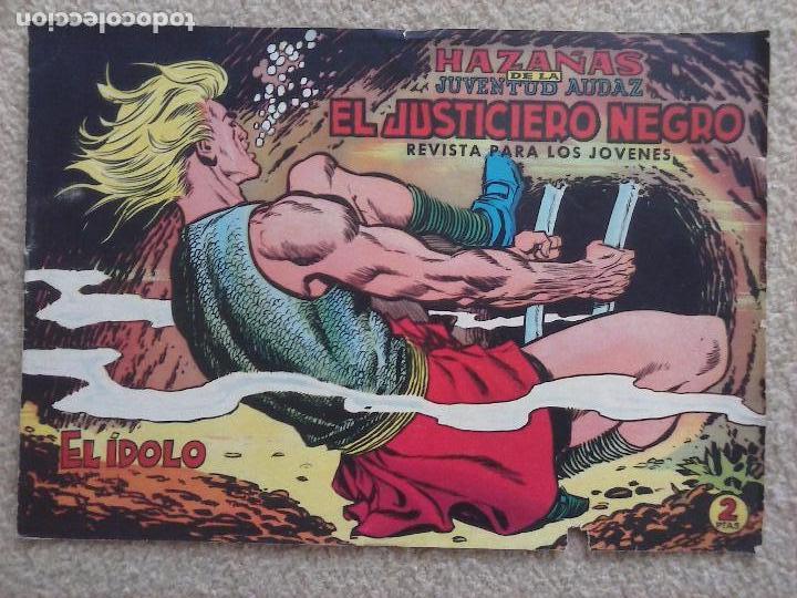 Tebeos: EL JUSTICIERO NEGRO ORIGINAL COMPLETA 1 AL 24 EDI. VALENCIANA 1965 - GUERRERO DIBUJOS, VER PORTADAS - Foto 3 - 102608587