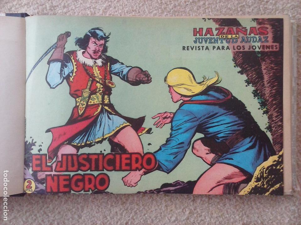 Tebeos: EL JUSTICIERO NEGRO ORIGINAL COMPLETA 1 AL 24 EDI. VALENCIANA 1965 - GUERRERO DIBUJOS, VER PORTADAS - Foto 6 - 102608587
