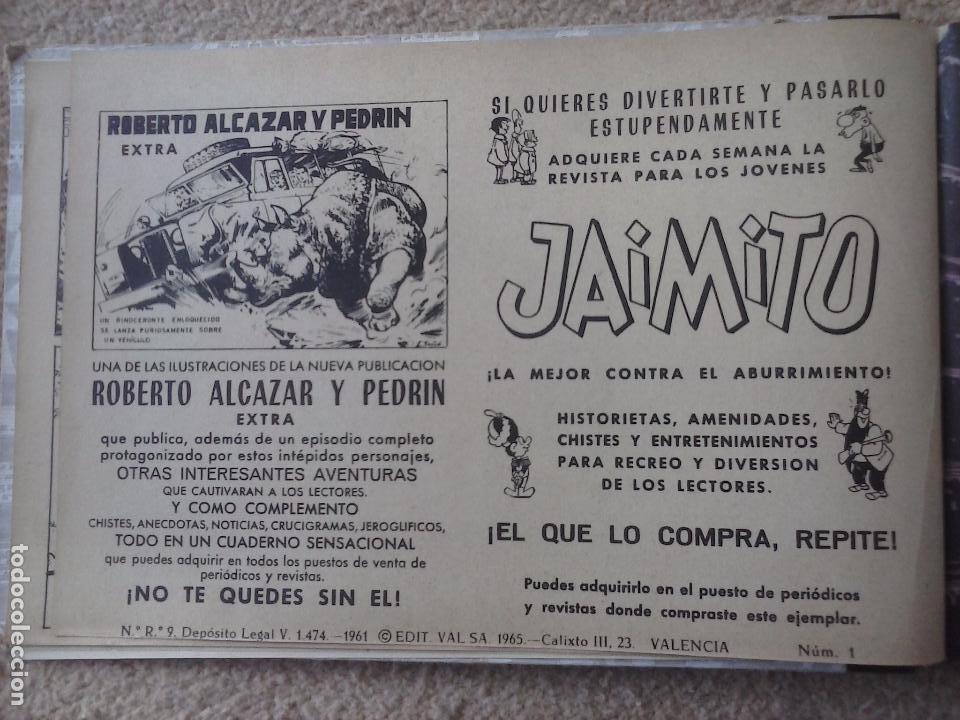Tebeos: EL JUSTICIERO NEGRO ORIGINAL COMPLETA 1 AL 24 EDI. VALENCIANA 1965 - GUERRERO DIBUJOS, VER PORTADAS - Foto 7 - 102608587