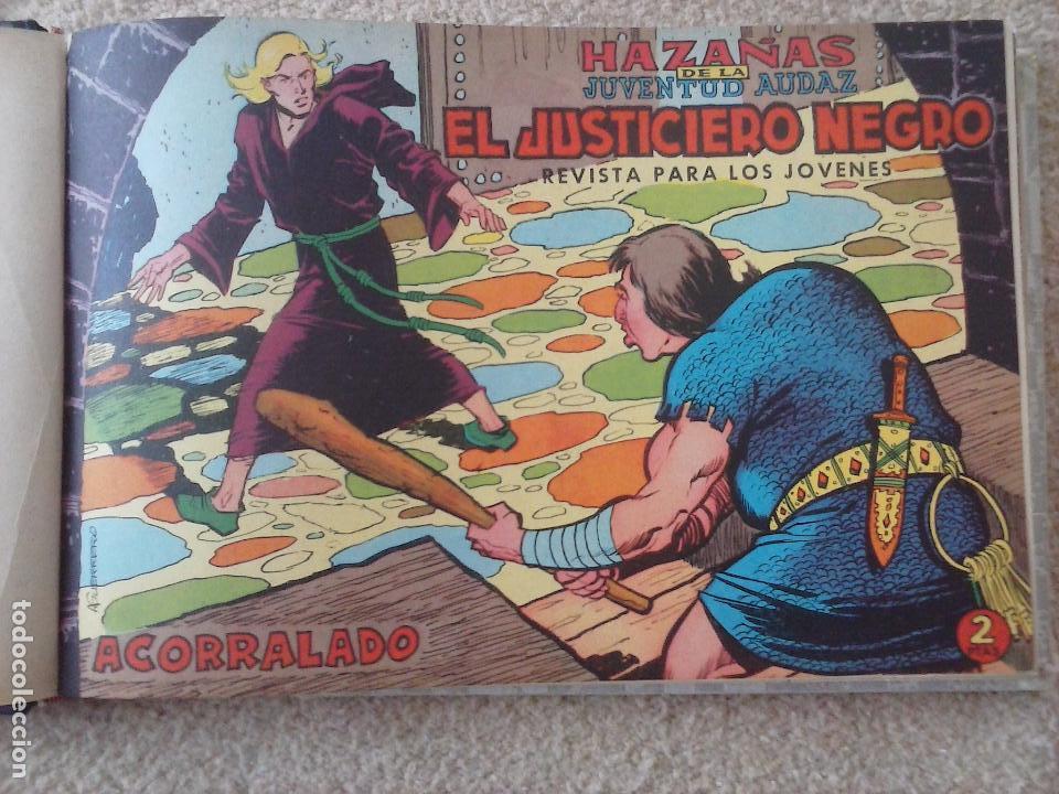 Tebeos: EL JUSTICIERO NEGRO ORIGINAL COMPLETA 1 AL 24 EDI. VALENCIANA 1965 - GUERRERO DIBUJOS, VER PORTADAS - Foto 8 - 102608587