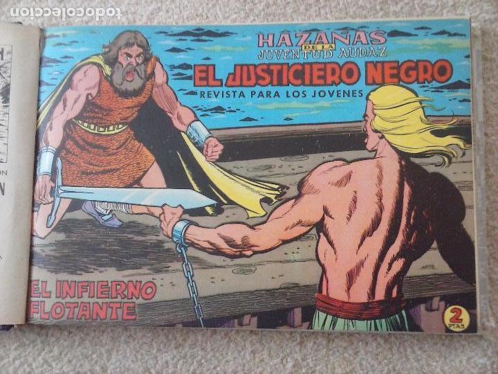 Tebeos: EL JUSTICIERO NEGRO ORIGINAL COMPLETA 1 AL 24 EDI. VALENCIANA 1965 - GUERRERO DIBUJOS, VER PORTADAS - Foto 13 - 102608587