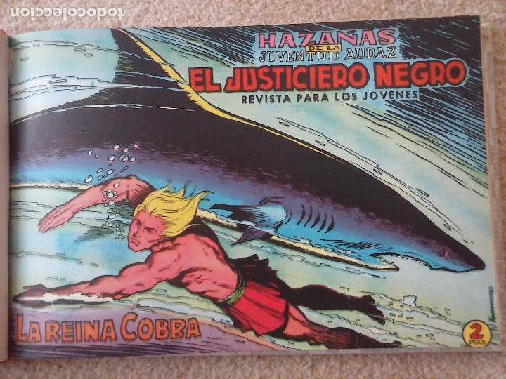 Tebeos: EL JUSTICIERO NEGRO ORIGINAL COMPLETA 1 AL 24 EDI. VALENCIANA 1965 - GUERRERO DIBUJOS, VER PORTADAS - Foto 17 - 102608587