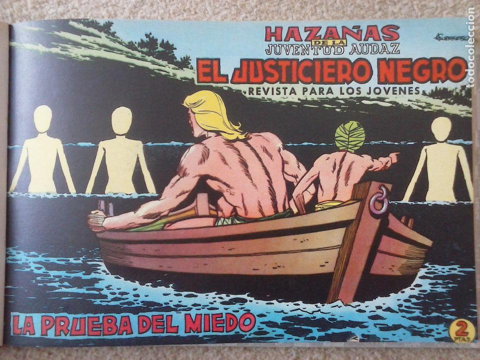 Tebeos: EL JUSTICIERO NEGRO ORIGINAL COMPLETA 1 AL 24 EDI. VALENCIANA 1965 - GUERRERO DIBUJOS, VER PORTADAS - Foto 23 - 102608587