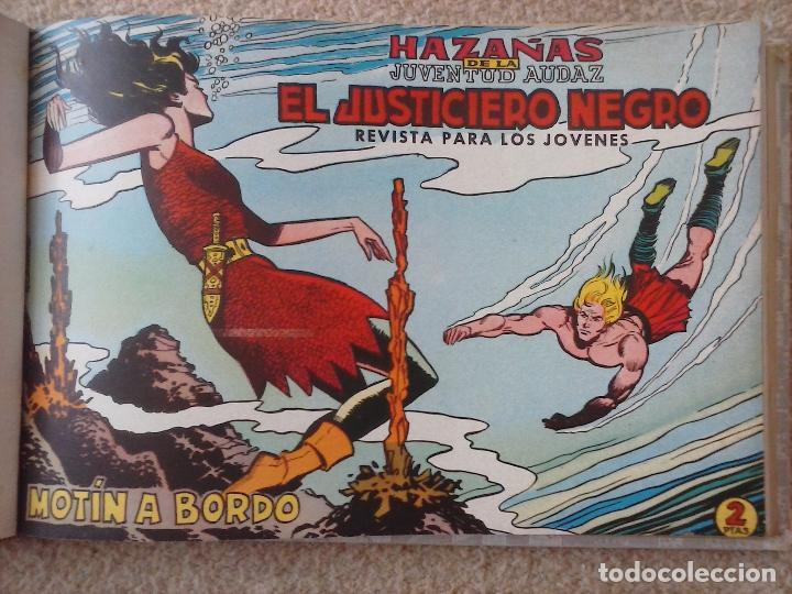 Tebeos: EL JUSTICIERO NEGRO ORIGINAL COMPLETA 1 AL 24 EDI. VALENCIANA 1965 - GUERRERO DIBUJOS, VER PORTADAS - Foto 25 - 102608587