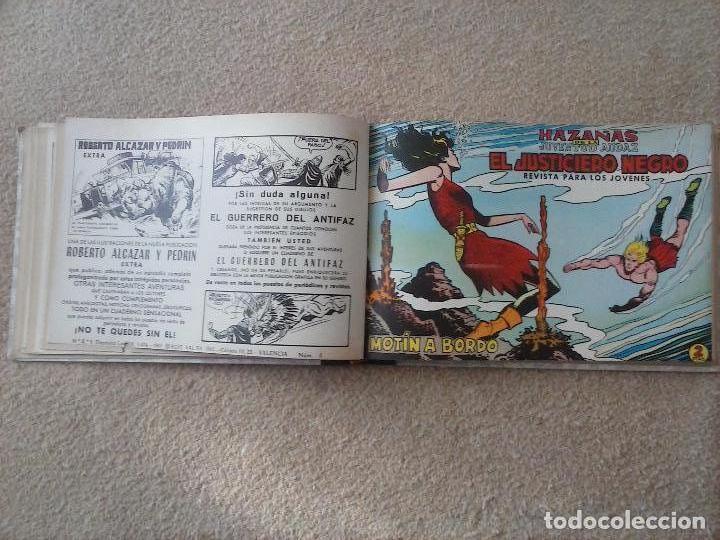 Tebeos: EL JUSTICIERO NEGRO ORIGINAL COMPLETA 1 AL 24 EDI. VALENCIANA 1965 - GUERRERO DIBUJOS, VER PORTADAS - Foto 26 - 102608587
