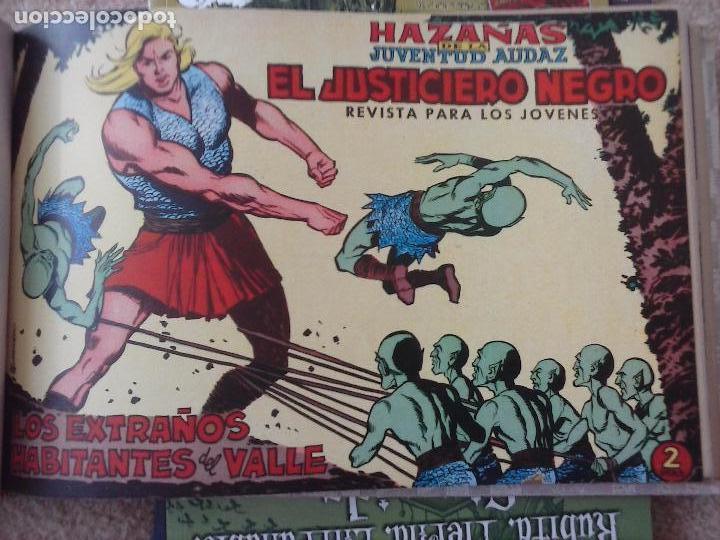 Tebeos: EL JUSTICIERO NEGRO ORIGINAL COMPLETA 1 AL 24 EDI. VALENCIANA 1965 - GUERRERO DIBUJOS, VER PORTADAS - Foto 29 - 102608587