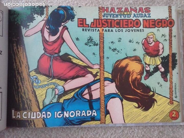 Tebeos: EL JUSTICIERO NEGRO ORIGINAL COMPLETA 1 AL 24 EDI. VALENCIANA 1965 - GUERRERO DIBUJOS, VER PORTADAS - Foto 32 - 102608587