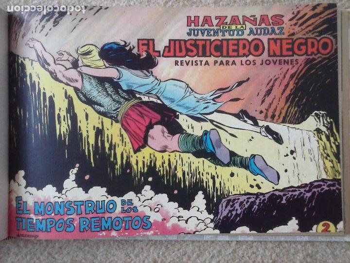 Tebeos: EL JUSTICIERO NEGRO ORIGINAL COMPLETA 1 AL 24 EDI. VALENCIANA 1965 - GUERRERO DIBUJOS, VER PORTADAS - Foto 40 - 102608587