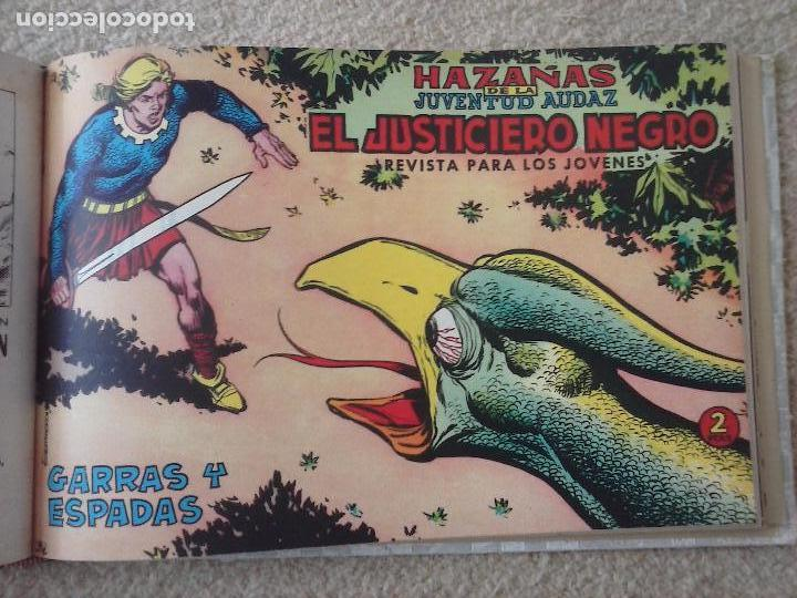 Tebeos: EL JUSTICIERO NEGRO ORIGINAL COMPLETA 1 AL 24 EDI. VALENCIANA 1965 - GUERRERO DIBUJOS, VER PORTADAS - Foto 44 - 102608587