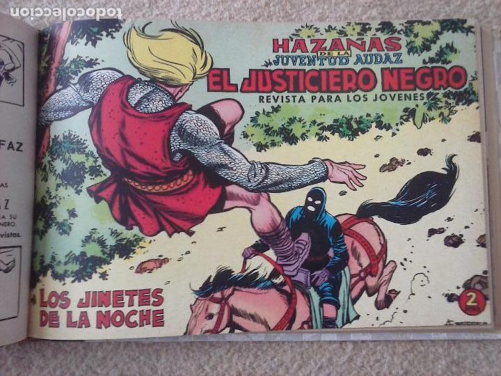 Tebeos: EL JUSTICIERO NEGRO ORIGINAL COMPLETA 1 AL 24 EDI. VALENCIANA 1965 - GUERRERO DIBUJOS, VER PORTADAS - Foto 48 - 102608587