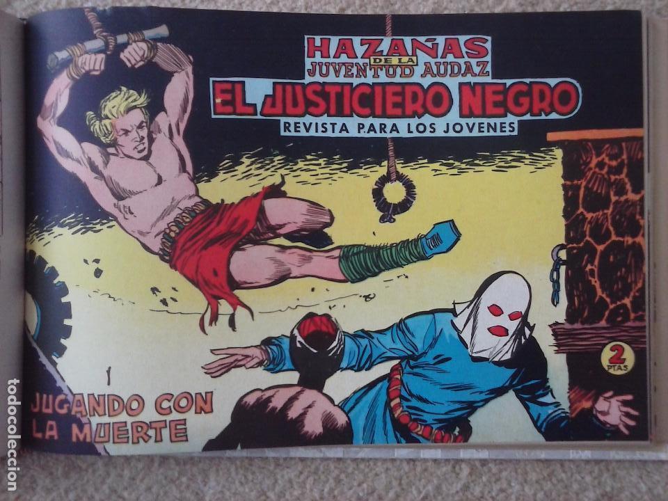 Tebeos: EL JUSTICIERO NEGRO ORIGINAL COMPLETA 1 AL 24 EDI. VALENCIANA 1965 - GUERRERO DIBUJOS, VER PORTADAS - Foto 54 - 102608587