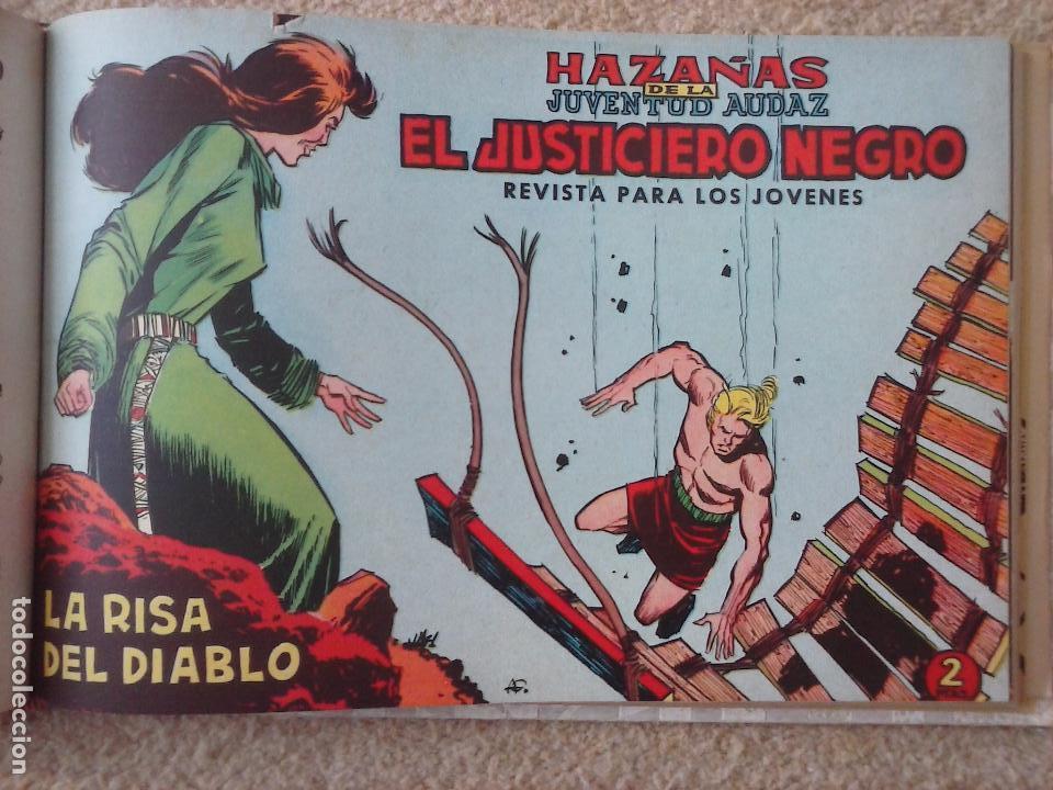 Tebeos: EL JUSTICIERO NEGRO ORIGINAL COMPLETA 1 AL 24 EDI. VALENCIANA 1965 - GUERRERO DIBUJOS, VER PORTADAS - Foto 58 - 102608587