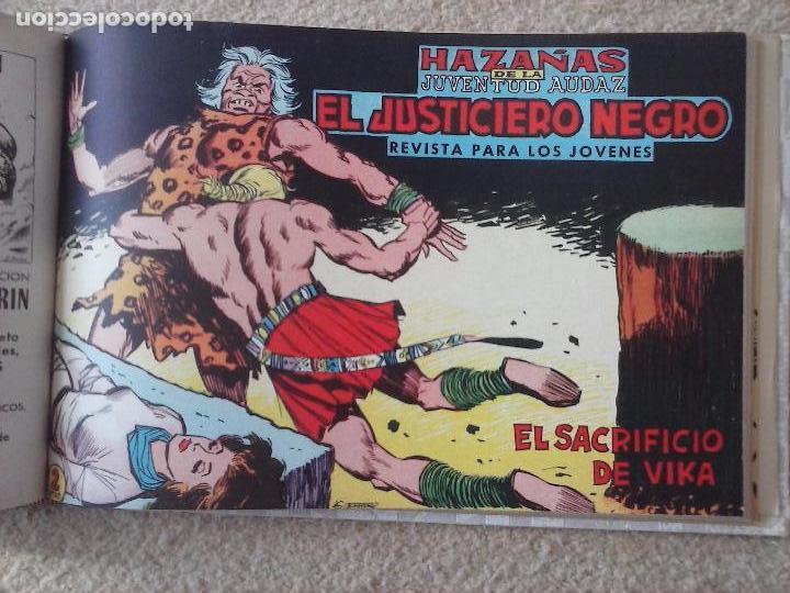 Tebeos: EL JUSTICIERO NEGRO ORIGINAL COMPLETA 1 AL 24 EDI. VALENCIANA 1965 - GUERRERO DIBUJOS, VER PORTADAS - Foto 62 - 102608587