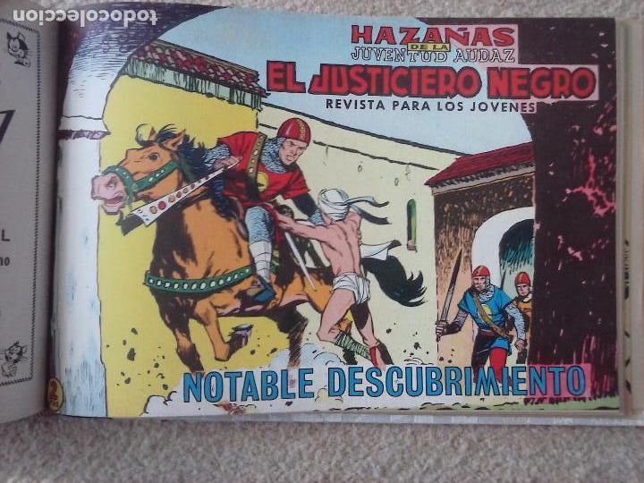 Tebeos: EL JUSTICIERO NEGRO ORIGINAL COMPLETA 1 AL 24 EDI. VALENCIANA 1965 - GUERRERO DIBUJOS, VER PORTADAS - Foto 67 - 102608587