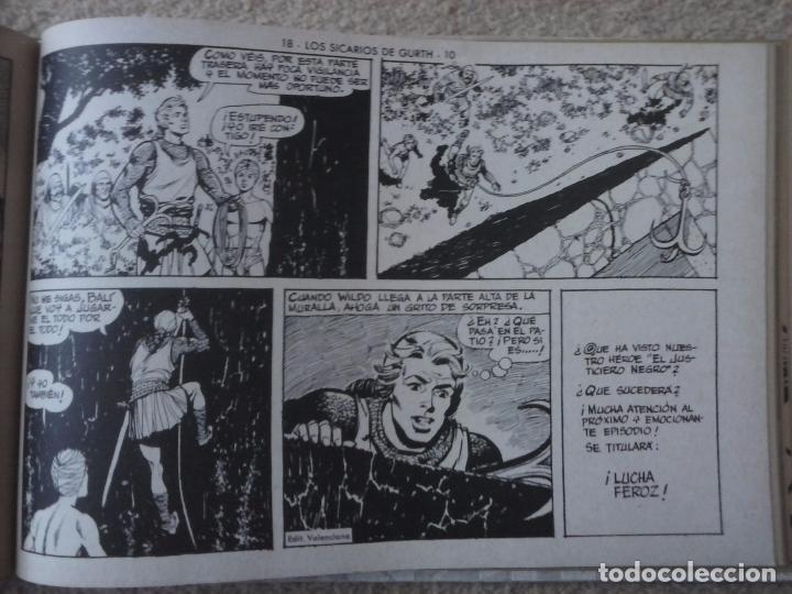 Tebeos: EL JUSTICIERO NEGRO ORIGINAL COMPLETA 1 AL 24 EDI. VALENCIANA 1965 - GUERRERO DIBUJOS, VER PORTADAS - Foto 75 - 102608587