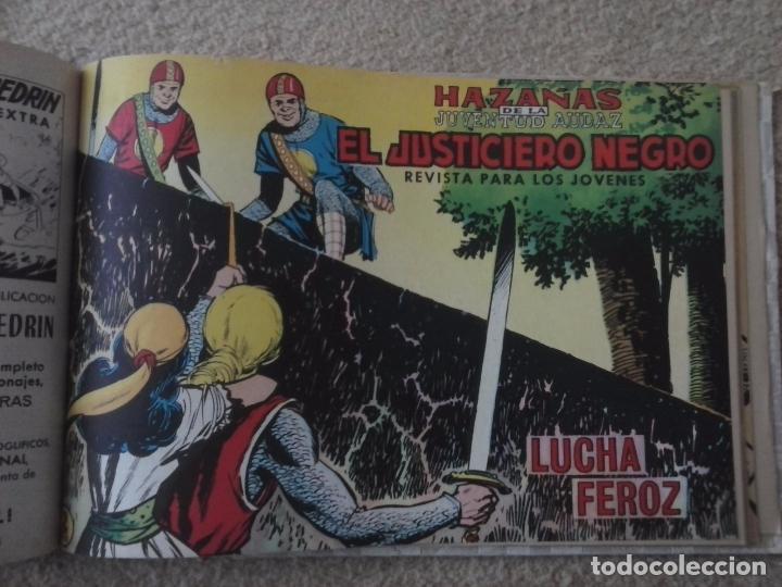 Tebeos: EL JUSTICIERO NEGRO ORIGINAL COMPLETA 1 AL 24 EDI. VALENCIANA 1965 - GUERRERO DIBUJOS, VER PORTADAS - Foto 76 - 102608587
