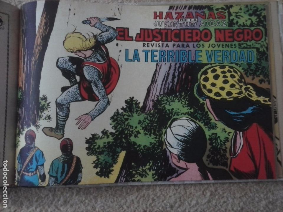 Tebeos: EL JUSTICIERO NEGRO ORIGINAL COMPLETA 1 AL 24 EDI. VALENCIANA 1965 - GUERRERO DIBUJOS, VER PORTADAS - Foto 80 - 102608587