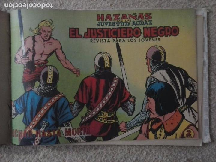 Tebeos: EL JUSTICIERO NEGRO ORIGINAL COMPLETA 1 AL 24 EDI. VALENCIANA 1965 - GUERRERO DIBUJOS, VER PORTADAS - Foto 91 - 102608587