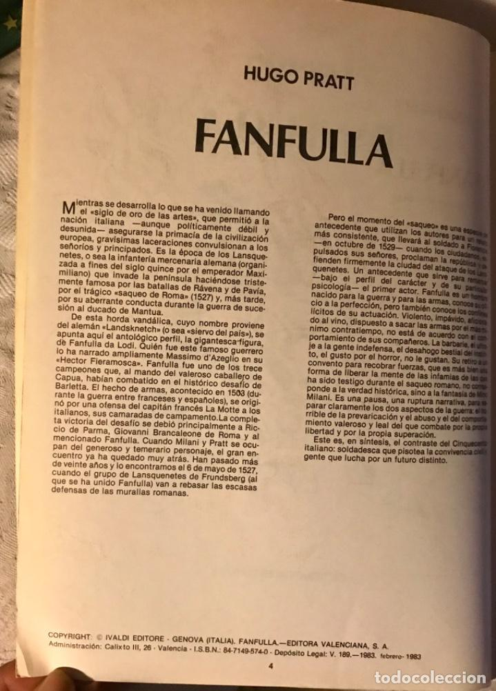Tebeos: Fanfulla Hugo Pratt colección piloto número 6 buen estado 1983 - Foto 4 - 102963199