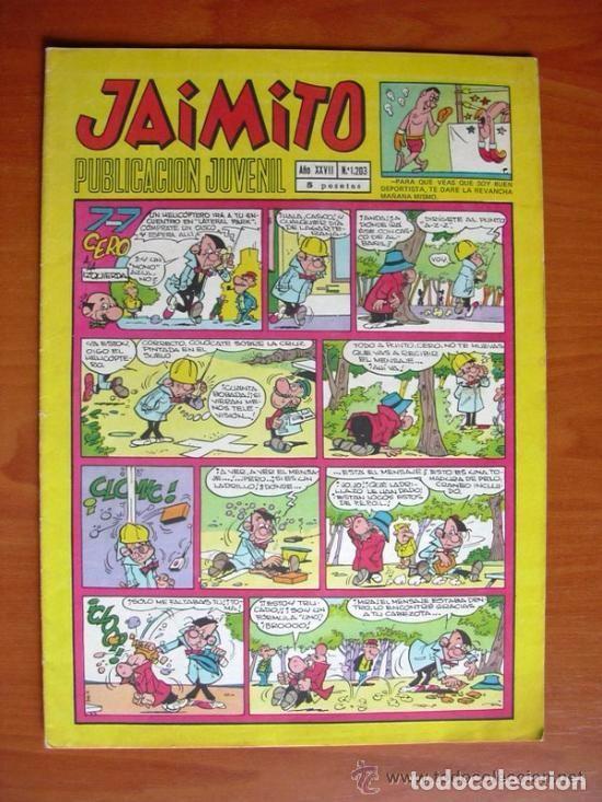 JAIMITO, Nº 1203 - EDITORIAL VALENCIANA - CONTIENE DIBUJOS DE AMBRÓS (Tebeos y Comics - Valenciana - Jaimito)