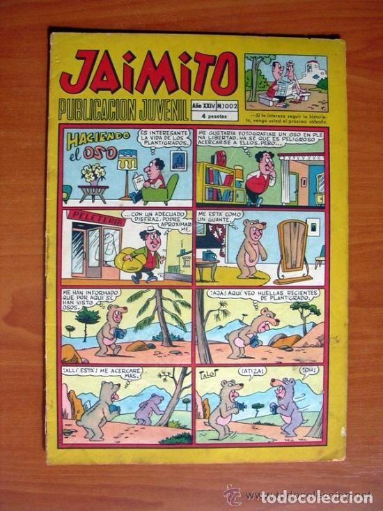 JAIMITO, Nº 1002 - EDITORIAL VALENCIANA - CONTIENE DIBUJOS DE AMBRÓS (Tebeos y Comics - Valenciana - Jaimito)