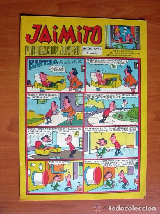 JAIMITO, Nº 993 - EDITORIAL VALENCIANA - CONTIENE DIBUJOS DE AMBRÓS (Tebeos y Comics - Valenciana - Jaimito)
