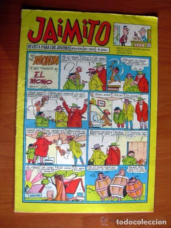 JAIMITO, Nº 885 - EDITORIAL VALENCIANA - CON LA AVENTURA DIBUJADA POR AMBRÓS TITULADA EL FORAJIDO (Tebeos y Comics - Valenciana - Jaimito)