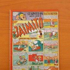 Tebeos: JAIMITO - Nº 71 - CHAPOTEOS ALEGRES - EDITORIAL VALENCIANA 1945. Lote 103663567