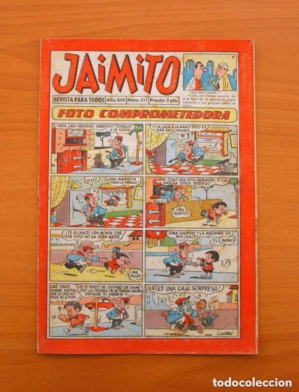 JAIMITO - Nº 517 - EDITORIAL VALENCIANA 1945 (Tebeos y Comics - Valenciana - Jaimito)