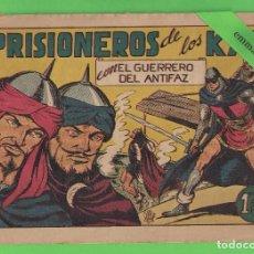 Tebeos: EL GUERRERO DEL ANTIFAZ - Nº 93 - PRISIONERO DE LOS KAN - VALENCIANA. (1949).. Lote 103782667