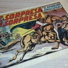 Tebeos: EL ESPADACHÍN ENMASCARADO. DE SORPRESA EN SORPRESA. VALENCIANA.. Lote 104433303