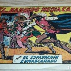 Tebeos: EL ESPADACHÍN ENMASCARADO. EL BANDIDO MEDIA CARA. VALENCIANA.. Lote 104433395