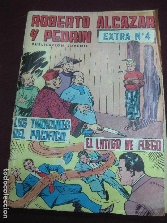 ROBERTO ALCAZAR Y PEDRIN. EXTRA Nº 4. LOS TIBURONES DEL PACIFICO - EL LATIGO DE FUEGO (Tebeos y Comics - Valenciana - Roberto Alcázar y Pedrín)