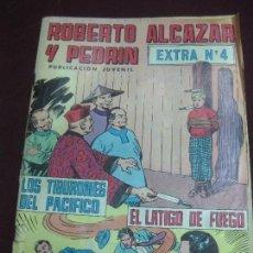 Tebeos: ROBERTO ALCAZAR Y PEDRIN. EXTRA Nº 4. LOS TIBURONES DEL PACIFICO - EL LATIGO DE FUEGO. Lote 105906439