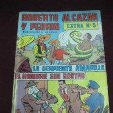 Tebeos: ROBERTO ALCAZAR Y PEDRIN. EXTRA Nº 5. LA SERPIENTE AMARILLA - EL HOMBRE SIN ROSTRO. Lote 105906531