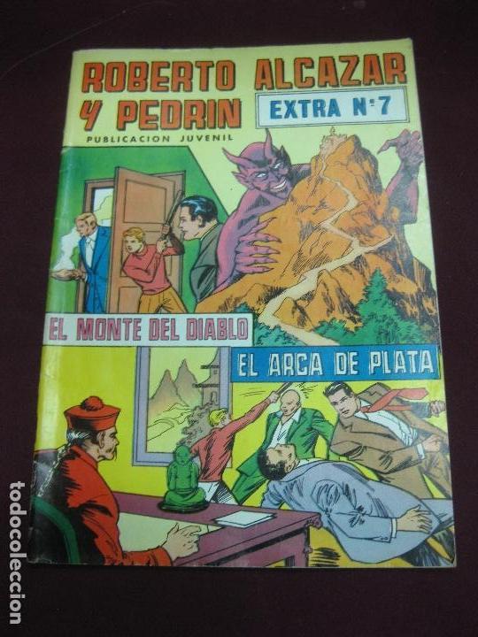 ROBERTO ALCAZAR Y PEDRIN. EXTRA Nº 7. EL MONTE DEL DIABLO - EL ARCA DE PLATA (Tebeos y Comics - Valenciana - Roberto Alcázar y Pedrín)