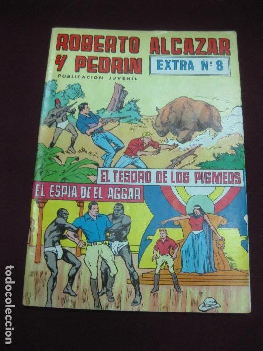 ROBERTO ALCAZAR Y PEDRIN. EXTRA Nº 8. EL TESORO DE LOS PIGMEOS - EL ESPIA DE EL AGGAR (Tebeos y Comics - Valenciana - Roberto Alcázar y Pedrín)