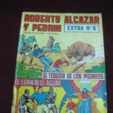 Tebeos: ROBERTO ALCAZAR Y PEDRIN. EXTRA Nº 8. EL TESORO DE LOS PIGMEOS - EL ESPIA DE EL AGGAR. Lote 105906943