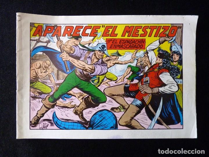 Tebeos: LOTE DE 5 NÚMEROS EL ESPADACHIN ENMASCARADO. 2ª EDICIÓN. ED.VALENCIANA - Foto 2 - 105934295