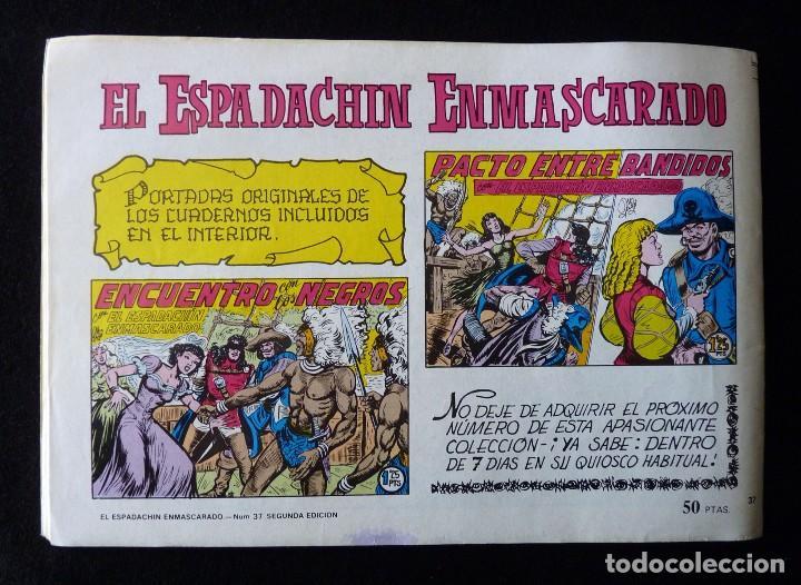 Tebeos: LOTE DE 5 NÚMEROS EL ESPADACHIN ENMASCARADO. 2ª EDICIÓN. ED.VALENCIANA - Foto 3 - 105934295