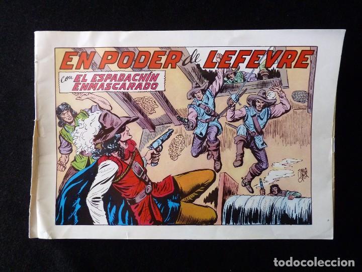 Tebeos: LOTE DE 5 NÚMEROS EL ESPADACHIN ENMASCARADO. 2ª EDICIÓN. ED.VALENCIANA - Foto 7 - 105934295