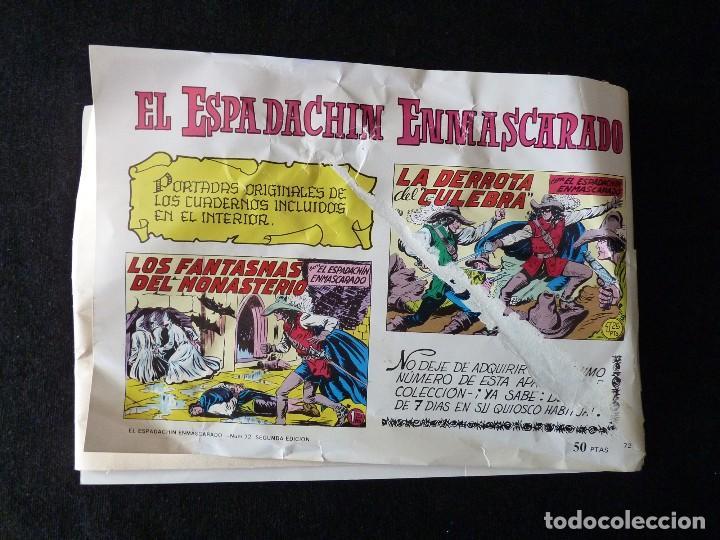 Tebeos: LOTE DE 5 NÚMEROS EL ESPADACHIN ENMASCARADO. 2ª EDICIÓN. ED.VALENCIANA - Foto 8 - 105934295