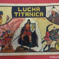 Tebeos: EL GUERRERO DEL ANTIFAZ. CUADERNILLO ORIGINAL. ED. VALENCIANA. 0,75 CTMS. Nº 3. Lote 106002983
