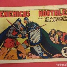 Tebeos: EL GUERRERO DEL ANTIFAZ. CUADERNILLO ORIGINAL. ED. VALENCIANA. 0,75 CTMS. Nº 9. Lote 106003475
