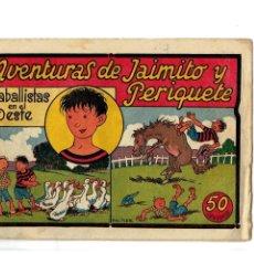 Tebeos: AVENTURAS DE JAIMITO Y PERIQUETE -CABALLISTAS EN EL OESTE- ORIGINAL 1943. Lote 106596135